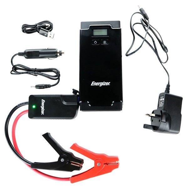 Energizer Lithiumion Polymer Car Jump Starter Power Bank Lcd Display 500A 12000Mah