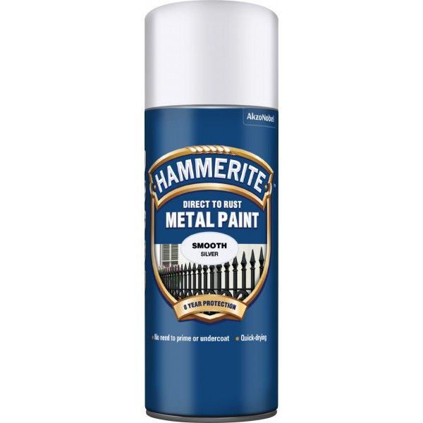 Direct To Rust Metal Paint Smooth Silver 400Ml