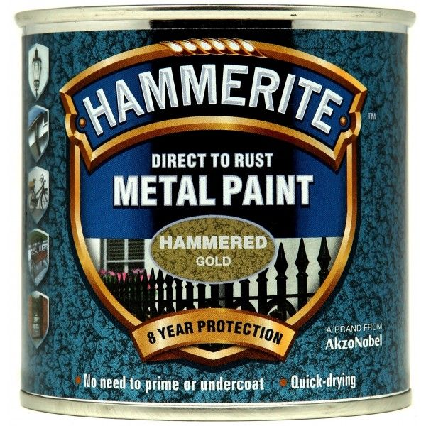 Direct To Rust Metal Paint Hammered Gold 250Ml