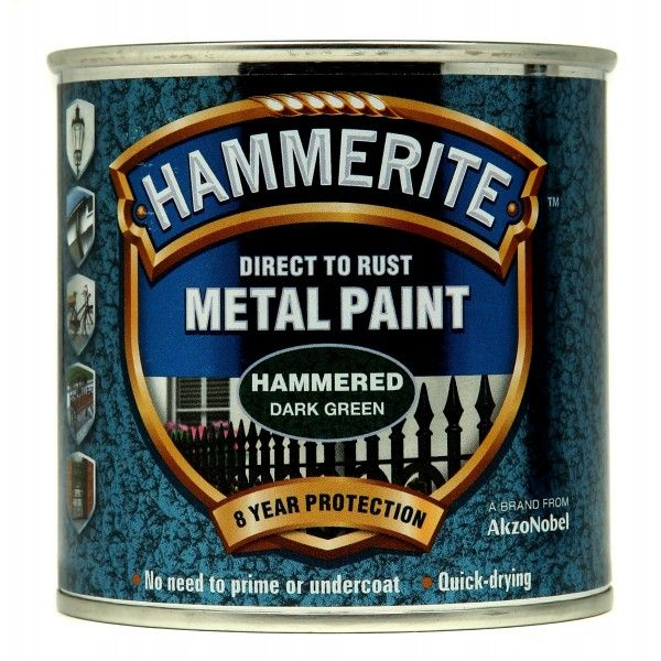 Direct To Rust Metal Paint Hammered Dark Green 250Ml