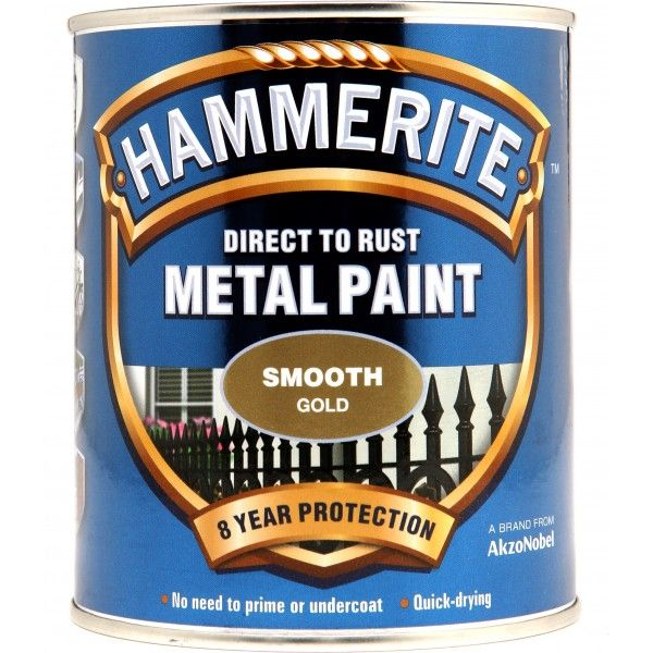 Direct To Rust Metal Paint Smooth Gold 250Ml