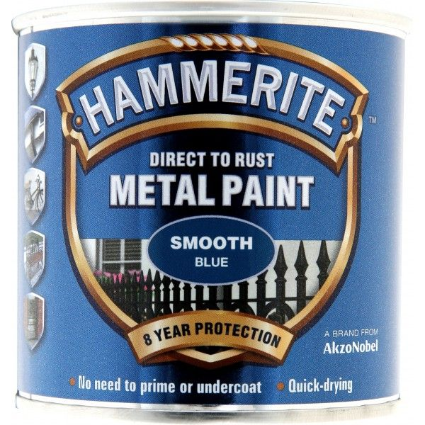 Direct To Rust Metal Paint Smooth Blue 250Ml