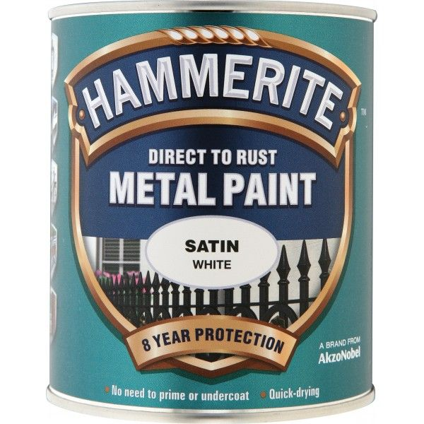 Direct To Rust Metal Paint Satin White 750Ml