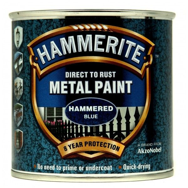 Direct To Rust Metal Paint Hammered Blue 250Ml