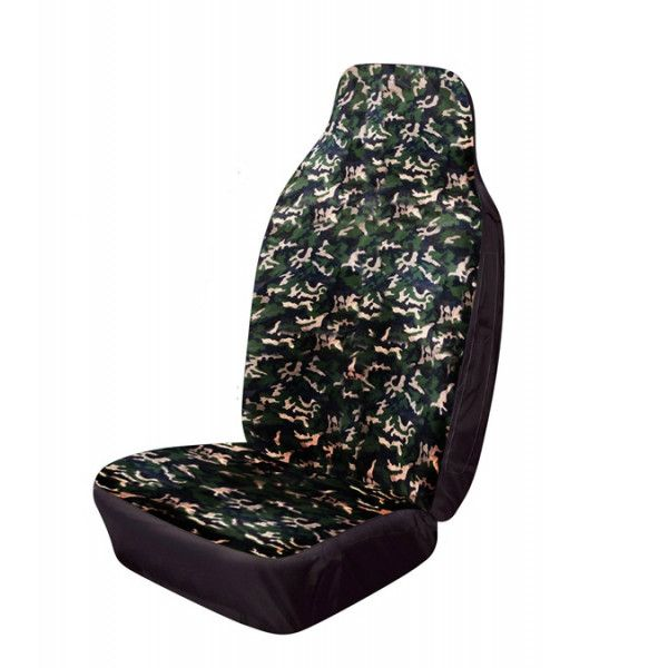 Car Seat Cover Hiback Front Single Camouflage