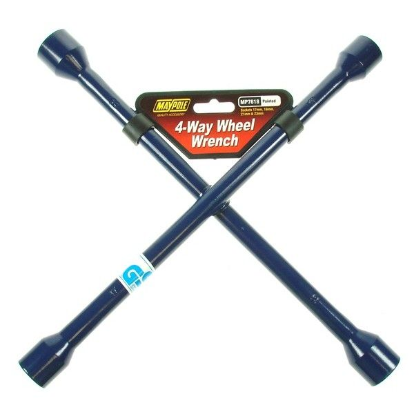 4 Way Wheel Wrench Blue