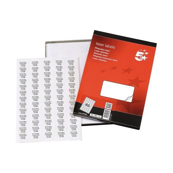 Laser Address Labels 38 X 21Mm Pack Of 6500