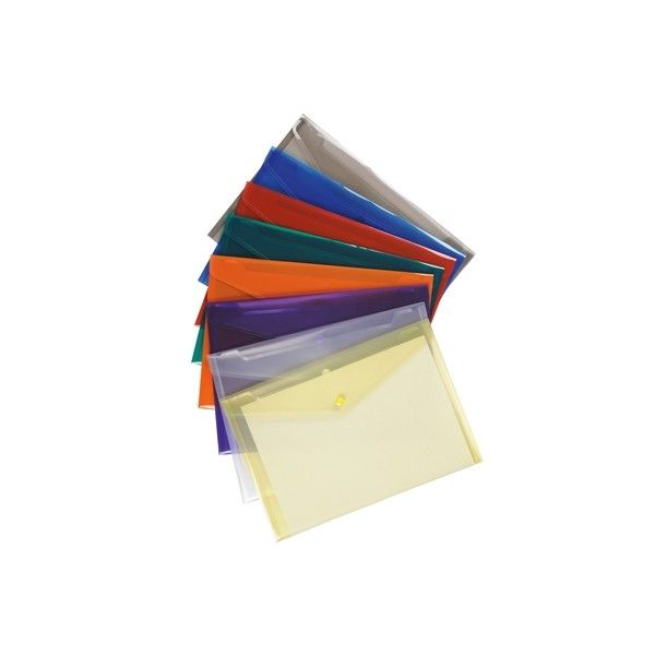 A4 Envelope Wallets Assorted Pack Of 25