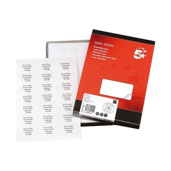 Laser Address Labels 64 X 38Mm Pack Of 5250