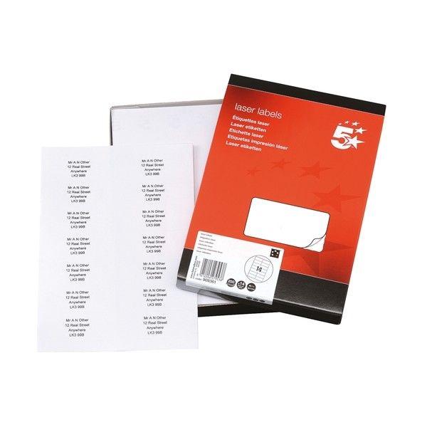 Laser Address Labels 99 X 38Mm Pack Of 3500
