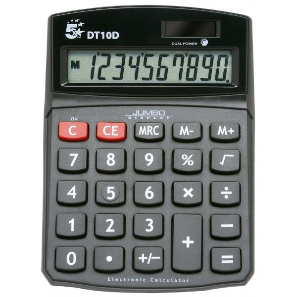 Desktop Calculator 10 Digit Display