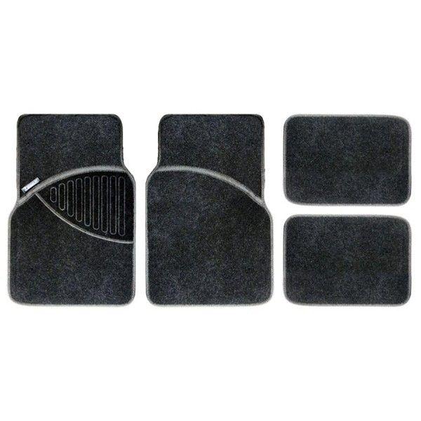 Standard Mat Set Carpet Black 4 Piece