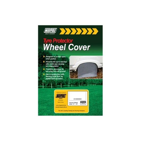 Caravan Wheel Cover Pegs 65 X 21Cm Grey