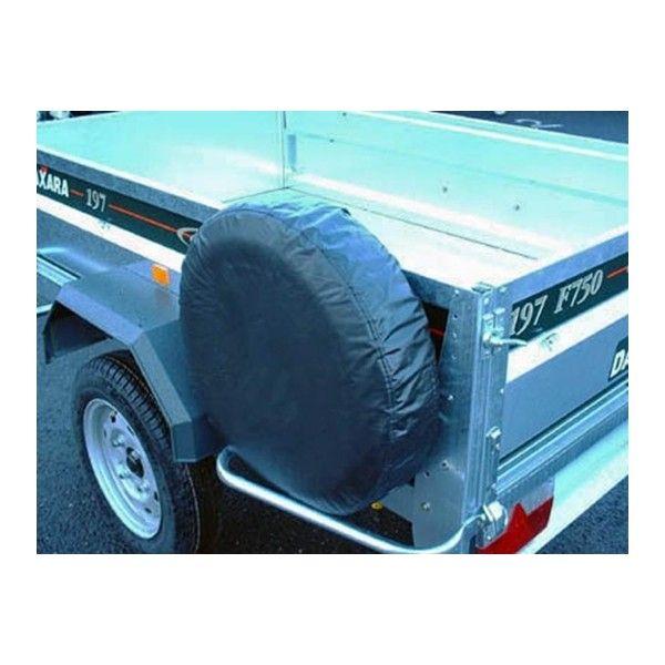 Trailer Spare Wheel Cover For 8In. Diameter Wheels