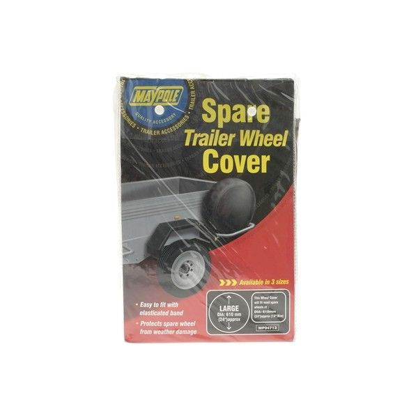 Trailer Spare Wheel Cover For 13In. Diameter Wheels