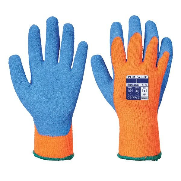 Cold Grip Gloves Orangeblue Medium