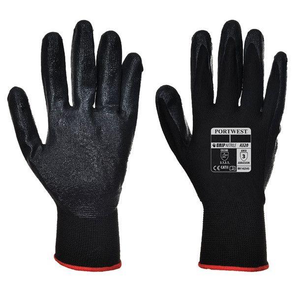 Dexti Grip Gloves Black Large Pack Of 12