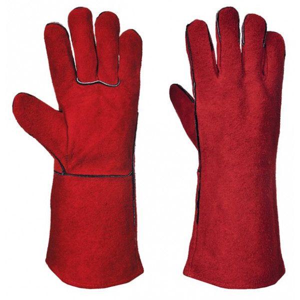 Welders Gauntlet Red X Large