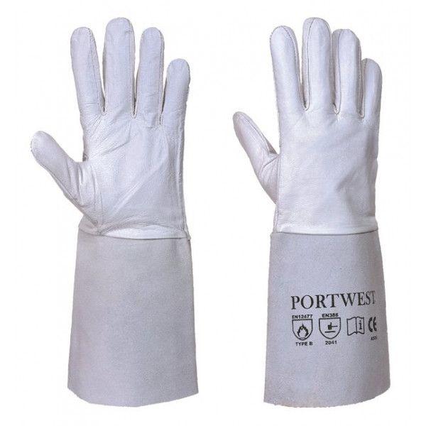 Premium Tig Welding Gauntlets Grey Large