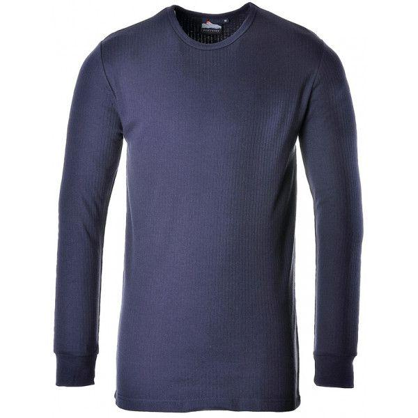 Thermal Long Sleeve Tshirt Navy Small