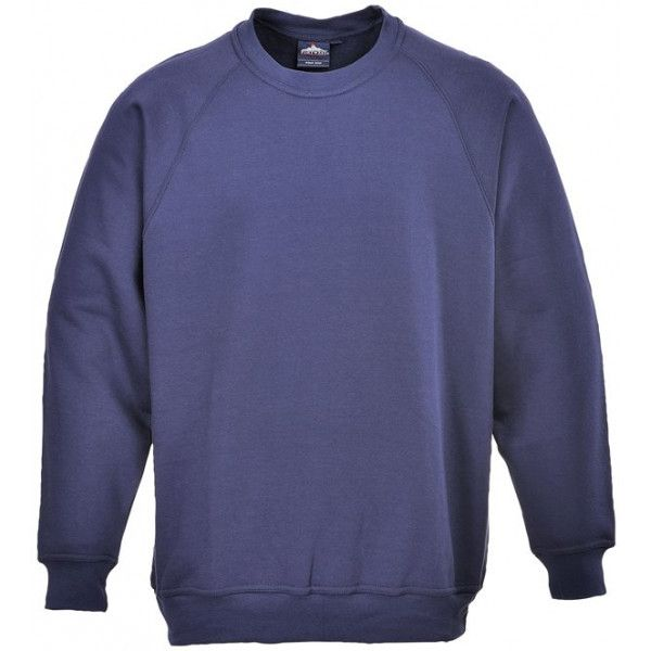 Roma Polycotton Sweatshirt Navy Large