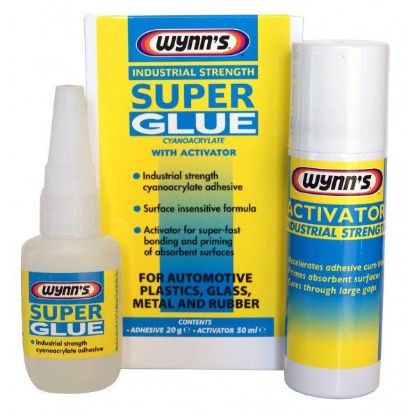 WYNNS Industrial Strength Super Glue with Activator  20g Bottle