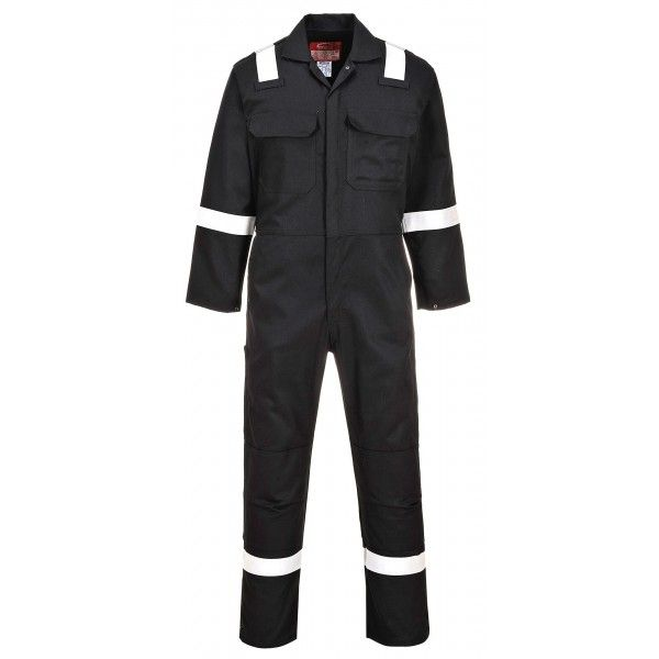 Bizweld Iona Flame Resistant Coverall Black Large