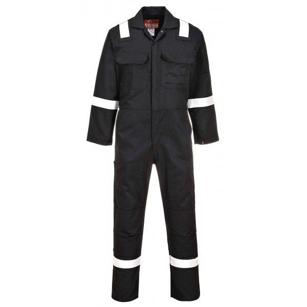 Bizweld Iona Flame Resistant Coverall Black Medium