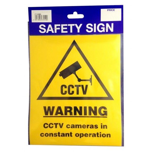 Outdoor Vinyl Sticker Cctv Warning