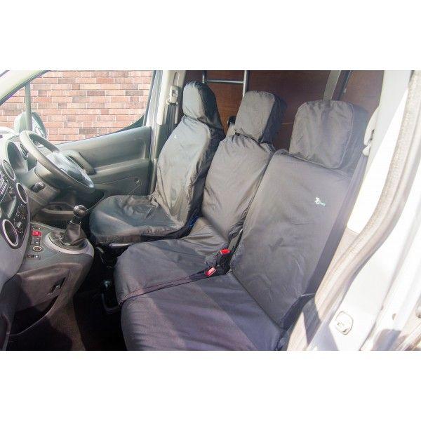 Van Seat Cover Double Black Citroen Berlingopeugeot Partner Nonfolding