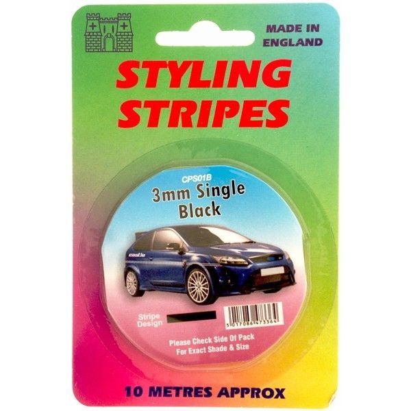 Single Stripe Black 3Mm 10M Length