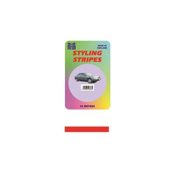Single Stripe Red 3Mm 10M Length