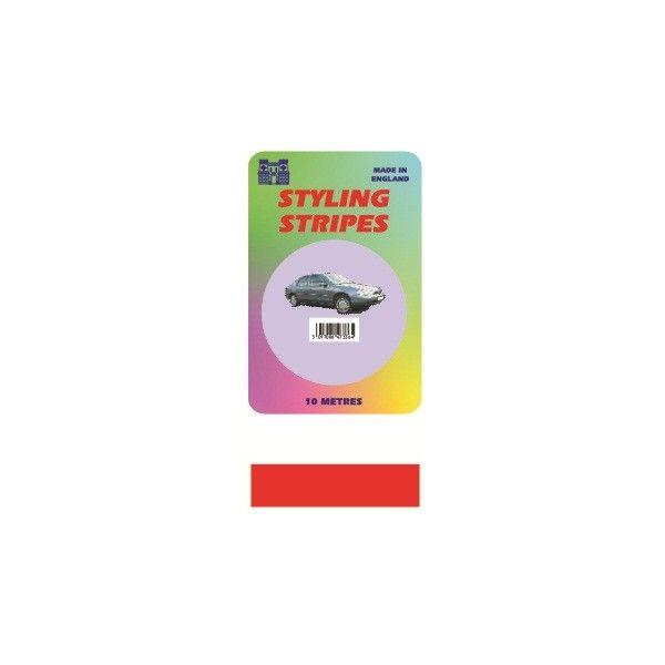 Single Stripe Red 6Mm 10M Length