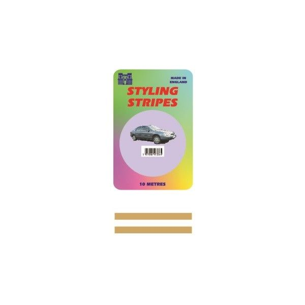 Double Stripe Gold 2Mm 10M Length