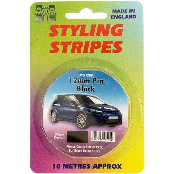 Single Stripe Black 12Mm 10M Length