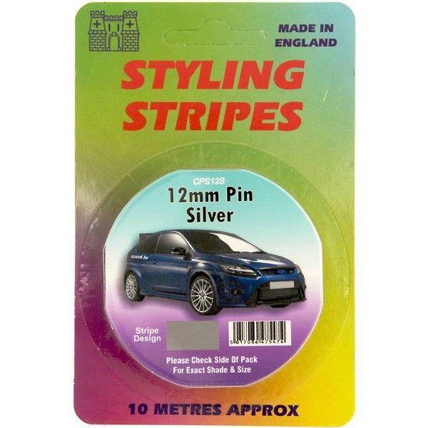 Single Stripe Silver 12Mm 10M Length