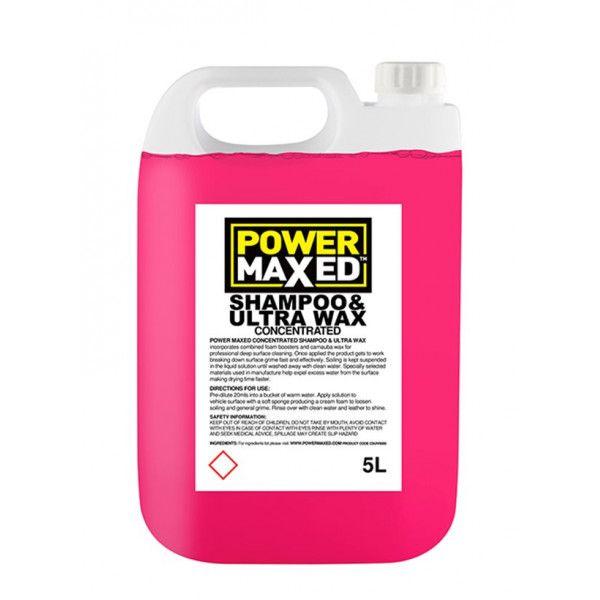 Power Maxed Car Shampoo And Ultra Wax 5.0Ltr