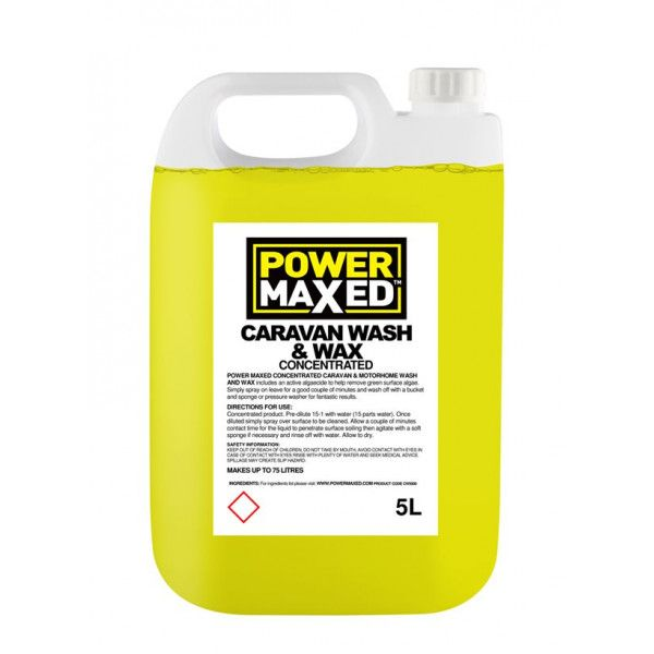 Power Maxed Caravan Wash 5.0Ltr Concentrate