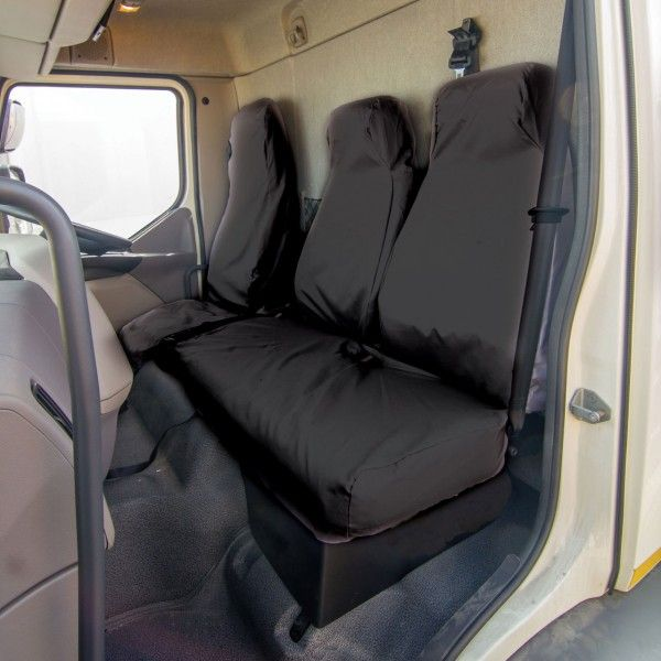 Truck Seat Cover Double Passenger Black Daf Lf