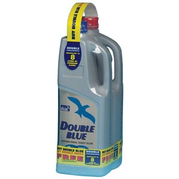 Toilet Fluid Double Blue Free Double Rinse 2 Litre