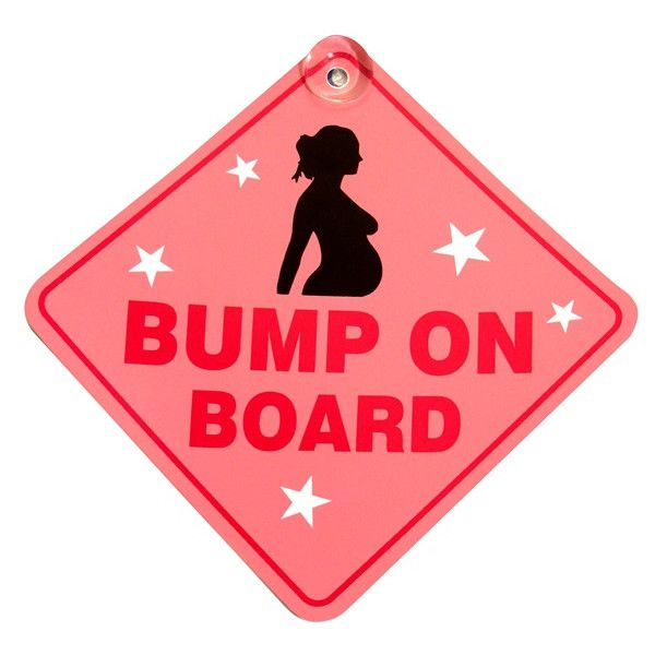 Suction Cup Diamond Sign Pink Bump On Board