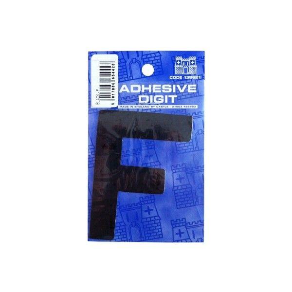 F 3In. Adhesive Digit Black Pack Of 12
