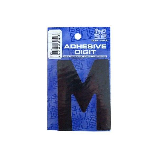 M 3In. Adhesive Digit Black Pack Of 12