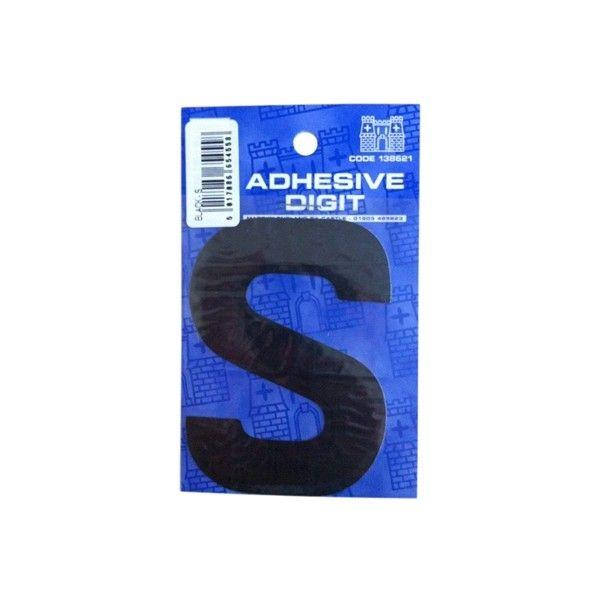 S 3In. Adhesive Digit Black Pack Of 12