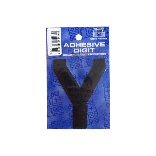Y 3In. Adhesive Digit Black Pack Of 12