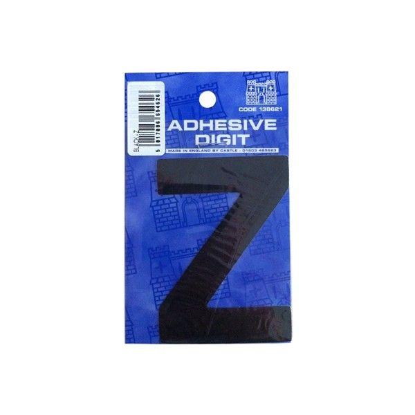 Z 3In. Adhesive Digit Black Pack Of 12