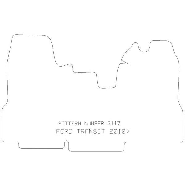 Rubber Tailored Car Mat Ford Transit 20102014 Pattern 3117