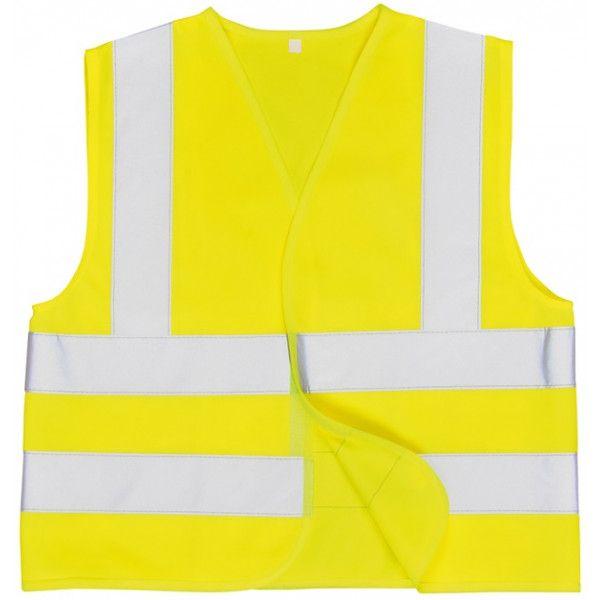 Junior Hivis Vest Yellow Age 10 To 12