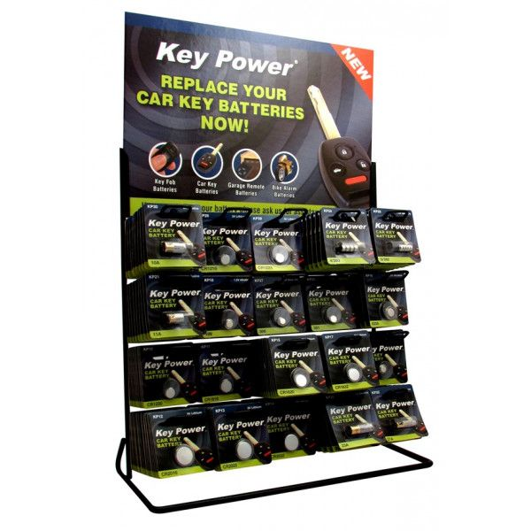 Coin Cell Battery 20 Hook Display Stand