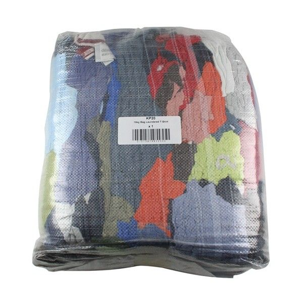 Bale Laundered Coloured Polishing Cloths 10Kg
